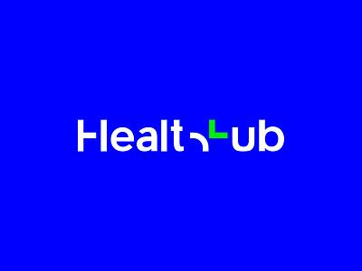 Health Hub Logo creative color cross mark design branding medicine app pharmacy hub health logo