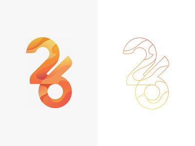26 May Logo orange line fire identity illustration mark design branding gradients may 26 logo