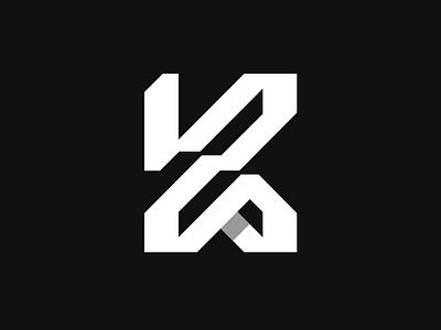 K Monogram vector illustration white black graphic design designer icon logotype logo designer brid k line identity branding mark typography brand symbol design logo