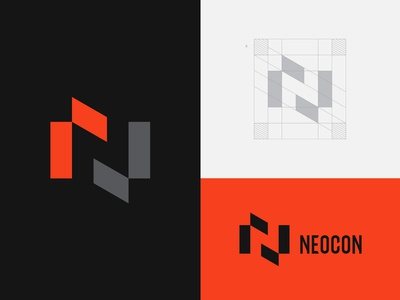 Neocon Logo logotype mark logomark company architecture neocon brand identity icon vector brid illustration type identity branding n graphic design monogram symbol logo