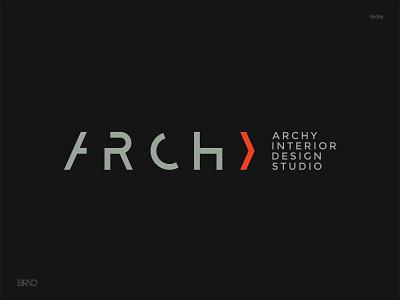 Archy line icon color interior architecture type design gridding concept illustration brid type logotype typography branding brand identity symbol design mark logo