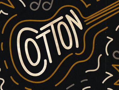Cotton Nashville - Break Room typography gig poster retro design