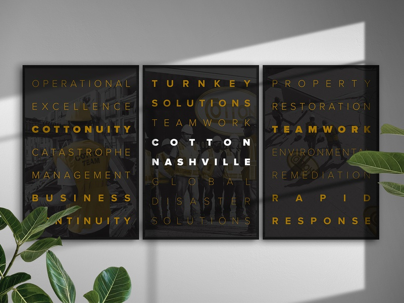 Cotton Nashville - Conference Room corporate design typography