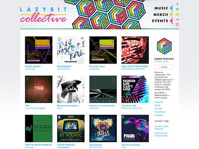 Lazybit.co bandcamp webdeisgn