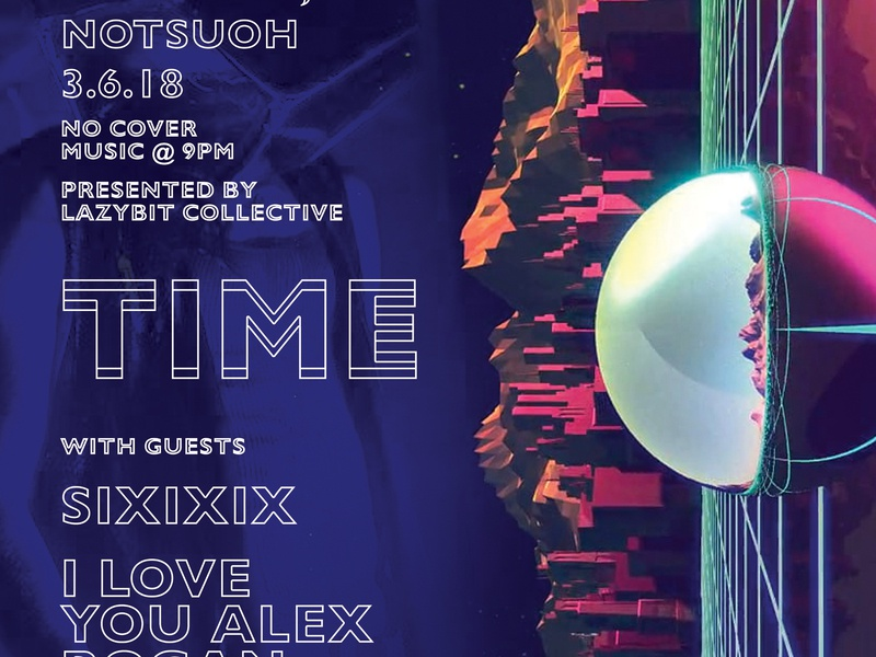 TIME - Show Posters synthwave typography poster design