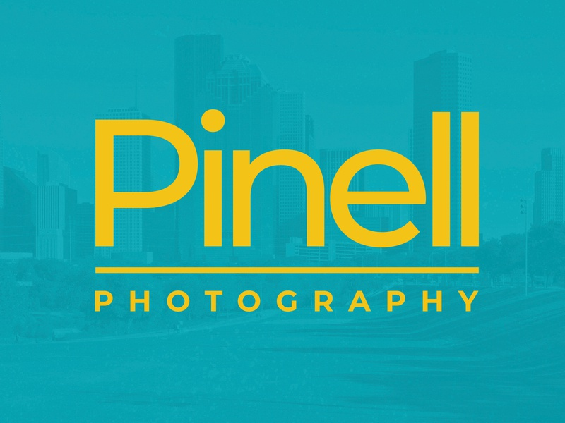 Pinell Photography houston typography branding