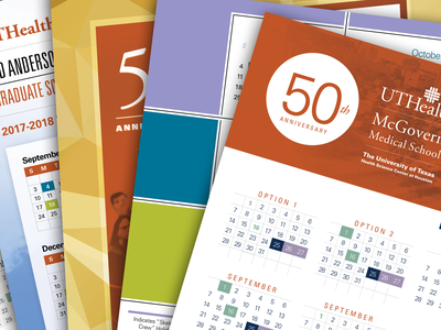 Annual HR Calendar typography corporate design
