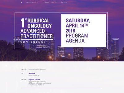 Surgical Oncology APAO Conference houston ux  ui website