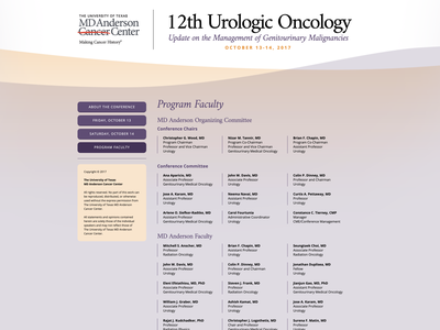 12th Urologic Oncology Conference houston ux ui website