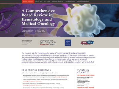 A Comprehensive Board Review in Hematology and Medical Oncology houston ux  ui website