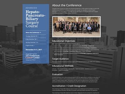 Advanced Hepato-Pancreato-Biliary Surgery Course ux  ui website