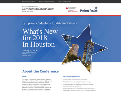 Lymphoma / Myeloma Update for Patients: houston ux  ui website