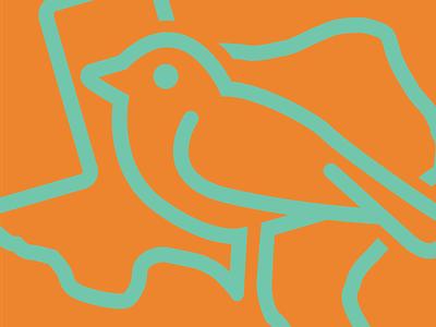 Mocking Birdie logo texas flat minimal branding design