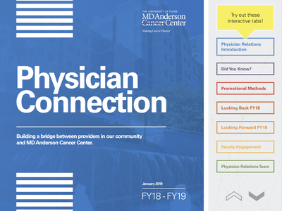 MDA Physicians Relations Newsletter corporate design ux  ui