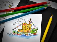 Little Cartoon Ship