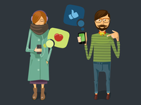 Mobile app site characters