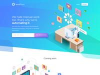 WorkFlows - HomePage Design
