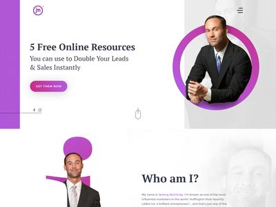 Jeremy Mcgilvrey - Home Page Design