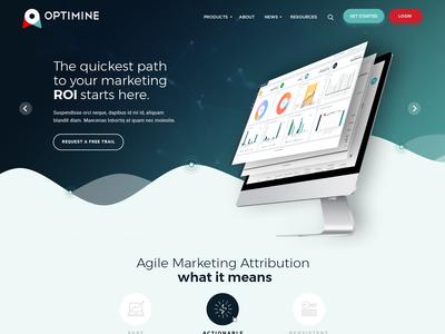 Optimine - Home Page Design