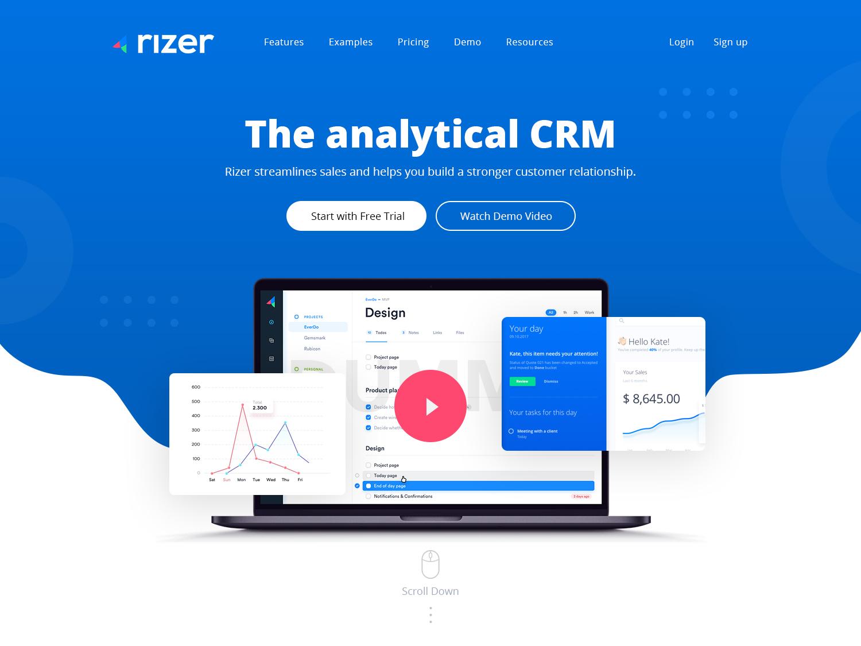 Rizer webdesign creative ui illustration typography esolzwebdesign rizer