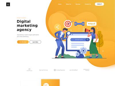 ROBOT PLANET uidesign webdesigner graphicdesign html css wordpress webdesign business esolzwebdesign design ui illustration corporate