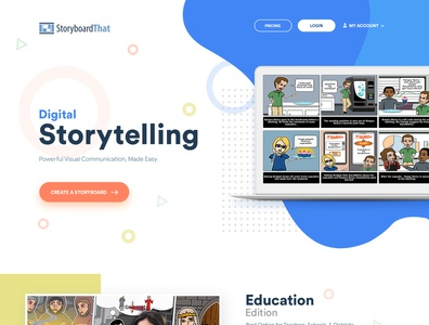 StoryboardThat template design theme design wordpress user interface creative art html css web designer graphic design uidesign web design esolzwebdesign design ui illustration corporate