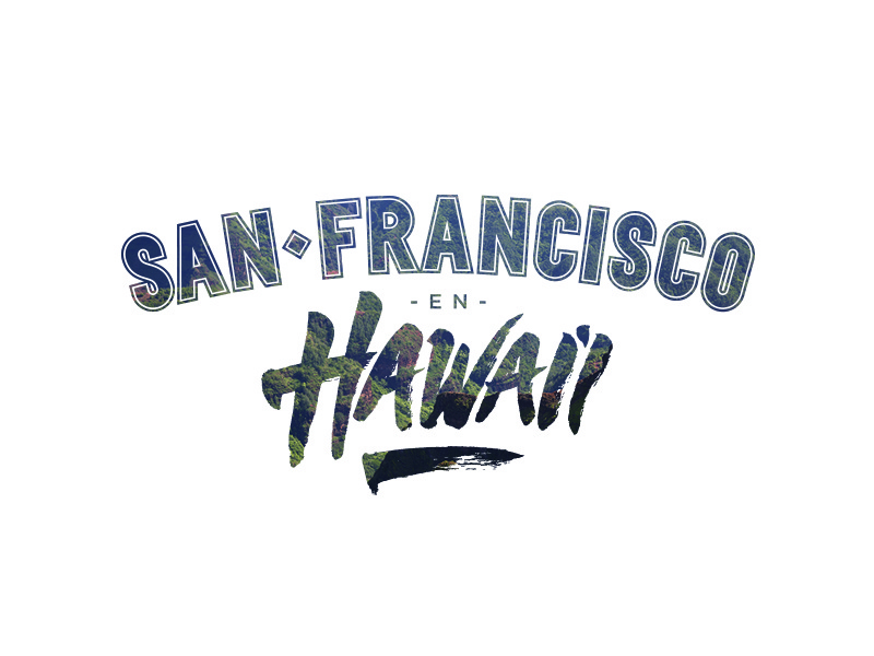SF & Hawai'i typography ink type custom brush cover design lettering typography