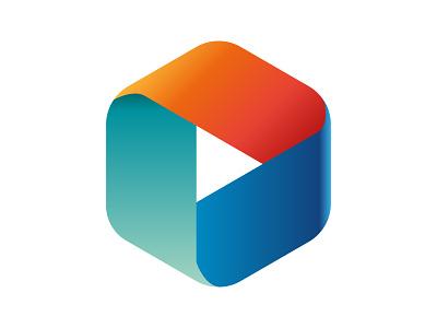 D Logo xler8brain digital identity alphabet mark letter concept design monogram logo movement data d