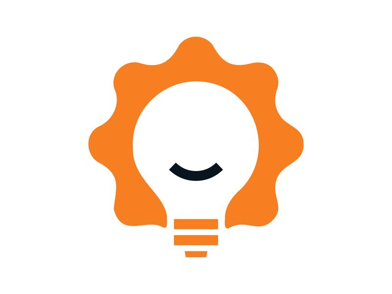 Innovations symbol brand identity branding illustration mark design monogram logo bulb logo tool service innovate idea bulb light bulb innovation