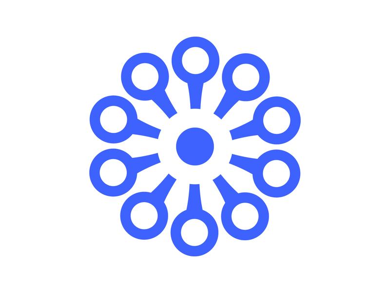 Connect identity branding alphabet letter mark design monogram logo connecting symbol o circle data connect