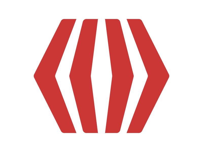 BoX Arrow icon hexagon symbol identity branding letter mark design monogram logo box logo