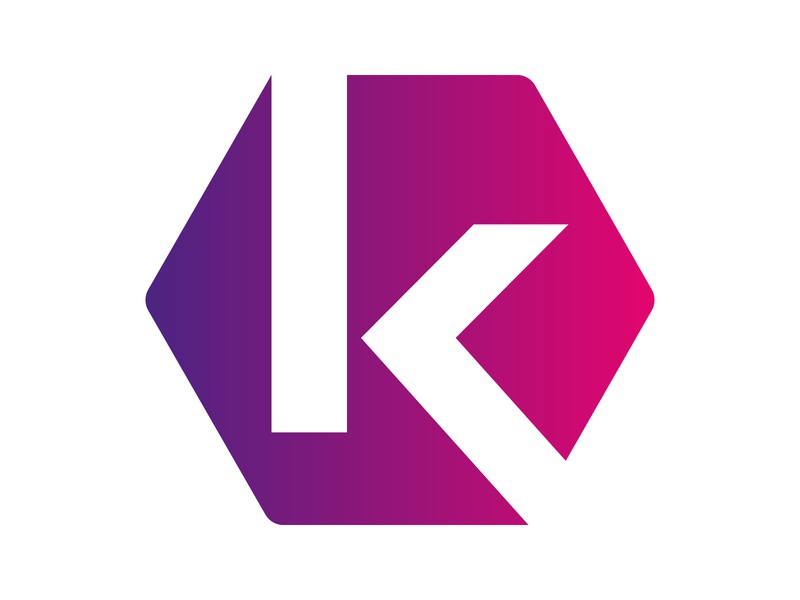 K Logo hexagon logo symbol identity branding alphabet letter mark design monogram logo hexagon k