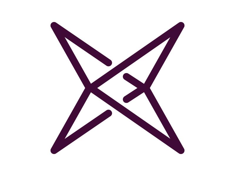X Arrow symbol identity branding alphabet letter mark design monogram logo arrow logo x letter logo