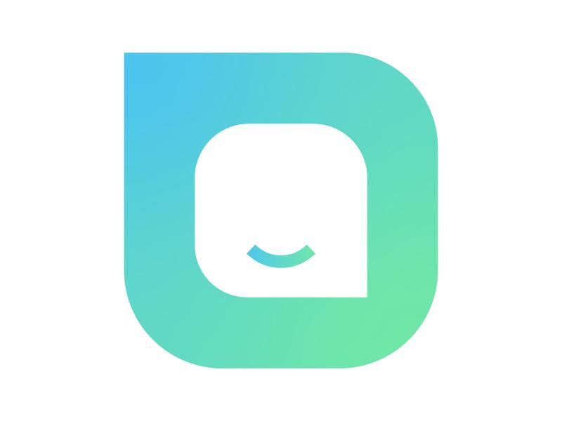 chatbot identity vector mark concept design monogram logo chat bot symbol clean happy message chatting bot chatbot