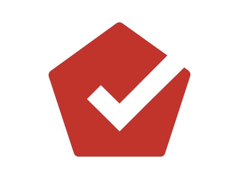 Real estate design symbol identity branding mark monogram logo home checkmark real estate