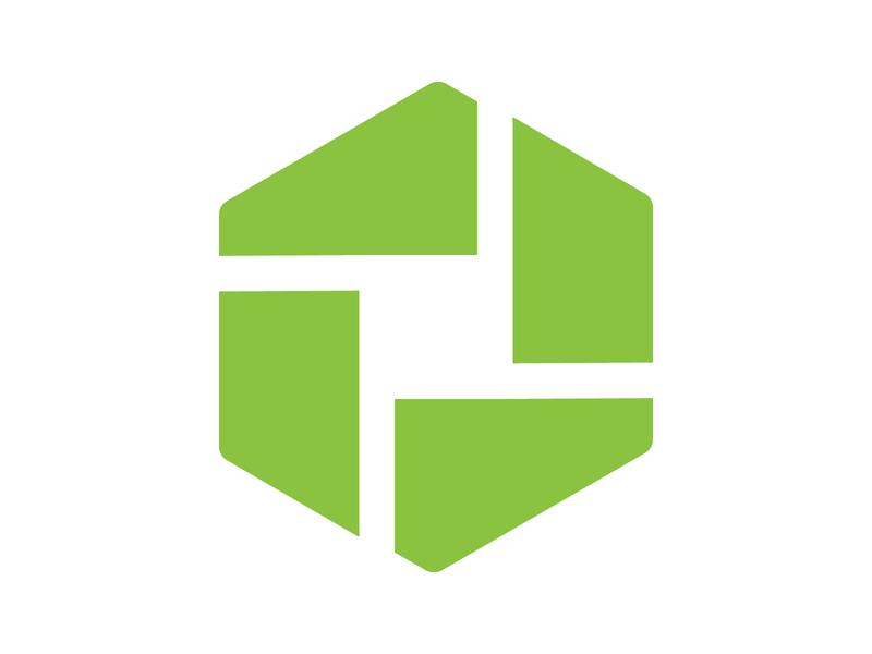 hexagon logo app icon symbol identity branding mark design monogram logo hexa hexagon logo