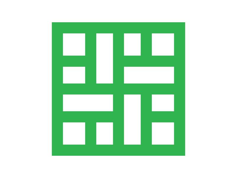 Maze icon symbol identity branding mark design monogram logo maze