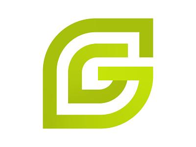 G Leaf icon symbol identity branding mark design monogram logo g leaves logo leaf logo g leaf g letter logo g logo