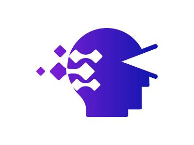 Vision Tech icon symbol identity branding mark design monogram logo technology human tech logo tech