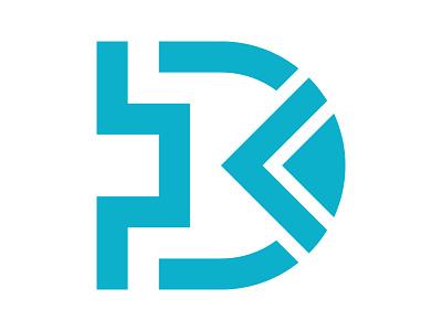 D logo initial logo d symbol identity branding mark design monogram logo d mark d arrow d letter logo d monogram xler8brain d logo
