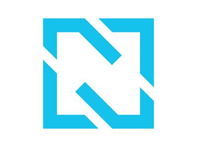 N logo symbol identity branding mark design monogram logo movement moving forward arrow n monogram shipping logo n letter box logo n logo