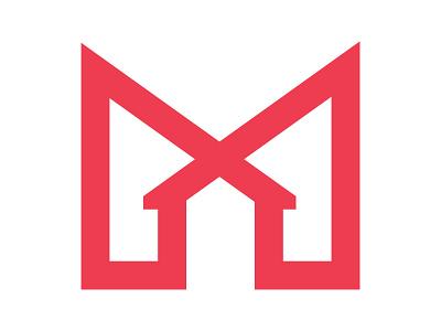 ModCASA symbol identity branding mark design monogram logo m mark m letter logo m logo minimal home logo house home modern