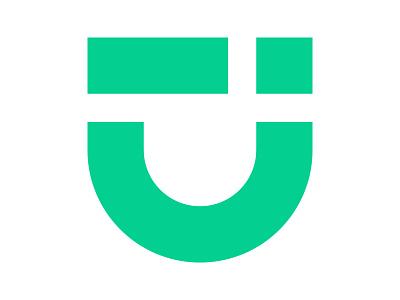 Ui Face icon symbol identity branding mark design monogram logo ui u mark u logo ui logo ui face logo