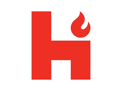 Highflame h symbol identity branding mark design monogram logo h letter logo h mark flame logo h logo highflame
