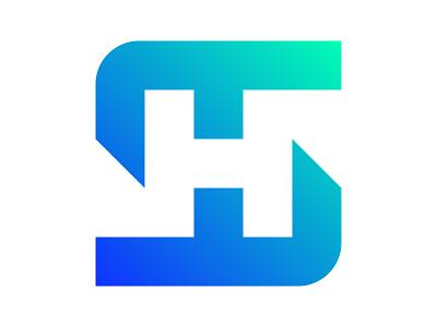 SH logo icon symbol identity branding mark design monogram logo sh h logo s logo sh mark sh logo