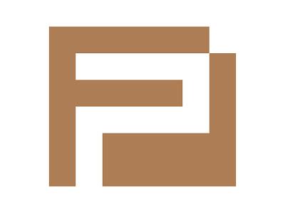 FP icon symbol identity branding mark design monogram logo flat logistics p logo fp logo fp