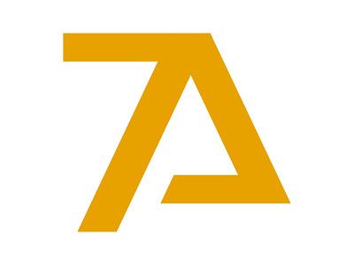 7A Studio icon symbol identity branding mark design monogram logo a logo minimal agency studio uiux 7a studio 7a logo