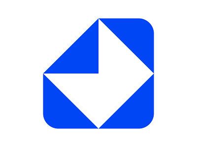 Inbox negative space letter symbol identity branding mark design monogram logo icon message mail inbox inbox logo