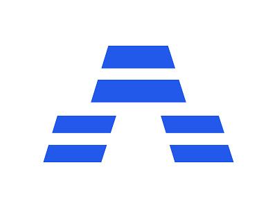 A xler8brain abstract minimal steps identity branding mark design monogram a monogram a letter a mark a logo