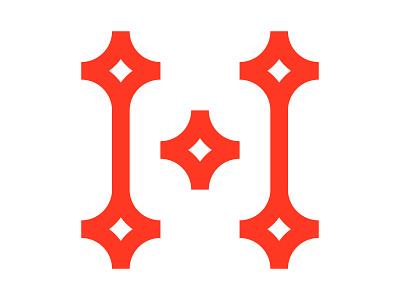 H xler8brain identity branding mark design h h mark letter h h monogram star logo h star h logo